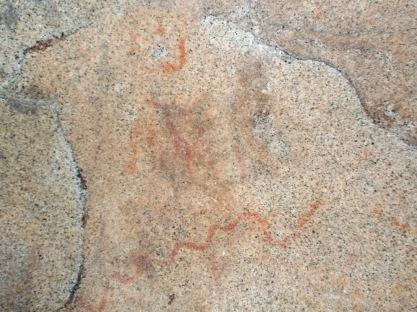 Estat de les figures centrals del conjunt rupestre de la Pedra de les Orenetes, a començaments d'aquest 2015