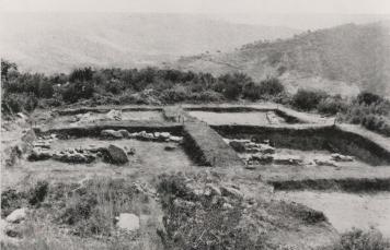 Poblat de Sant Miquel després de ser excavat el 1963-64 (Foto: Ajuntament de Montornès)