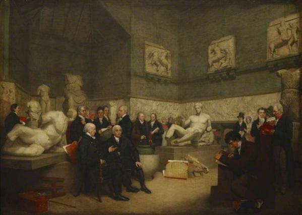 Els marbres arriben al Museu Britànic el 1816, adquirits per 35.000 lliures a Lord Elgin